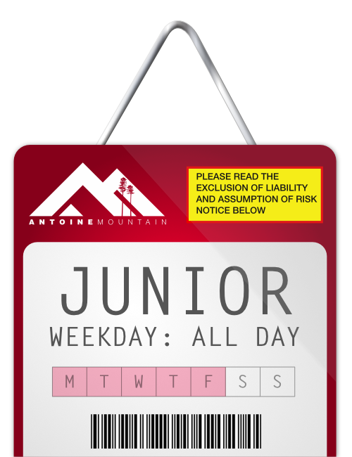 Junior (6-17) 1 Day Lift Ticket - Weekday
