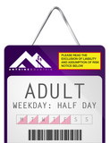 Adult (18-64) 1/2 Day Lift Ticket - Weekday Afternoon