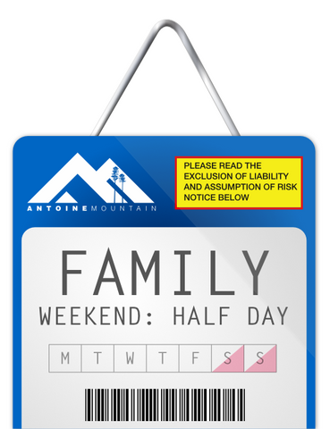 Family 1/2 Day Lift Tickets - Weekend Afternoon