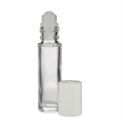 10 ml Clear Glass Rollerball Bottle