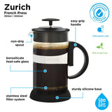 French Press: Zurich Black 1000 ml (34 fl oz)