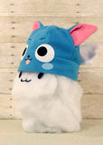 Happy Blue Cat Hat with Wings