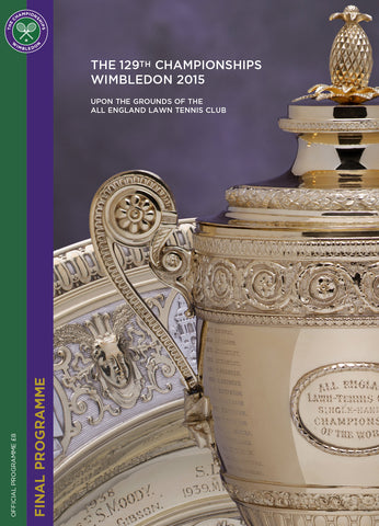 2015 Wimbledon Championships Final Programme with Full Results