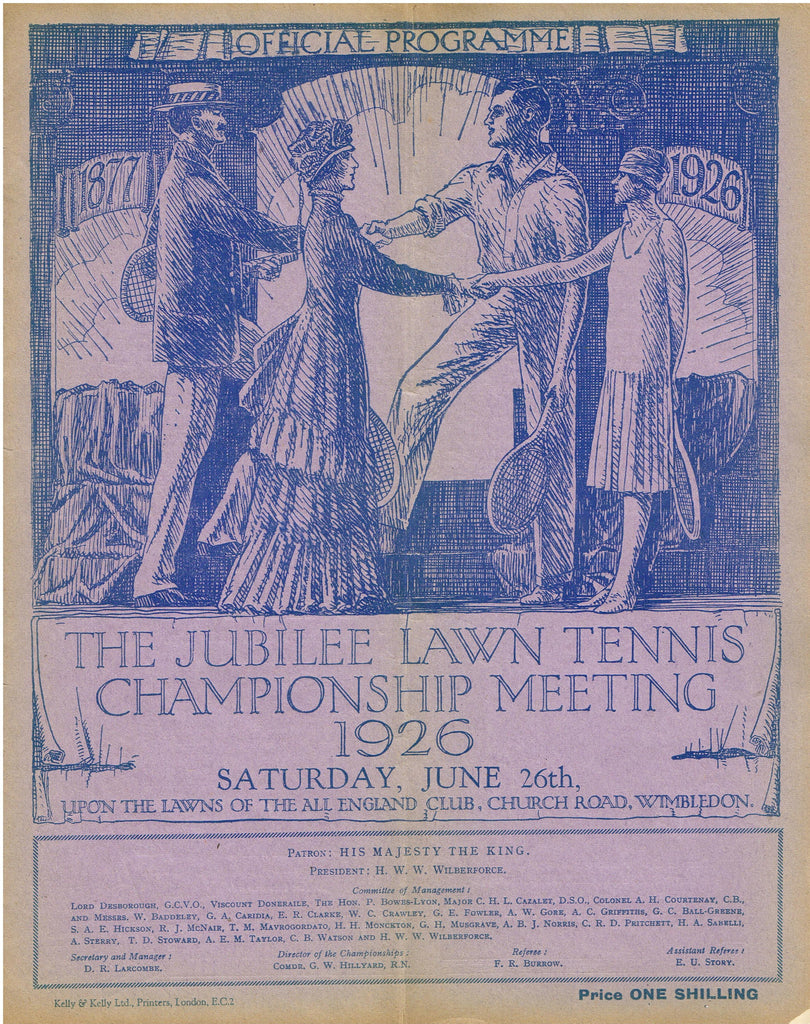 1926 Wimbledon Programme - Saturday June 26th
