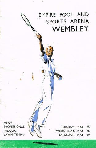 1937 Wembley Professional Tournament Programme