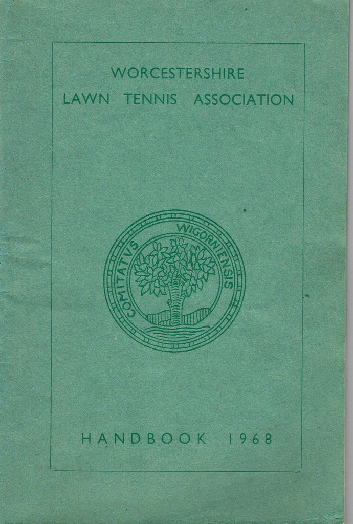 1968 Worcestershire Lawn Tennis Association Handbook