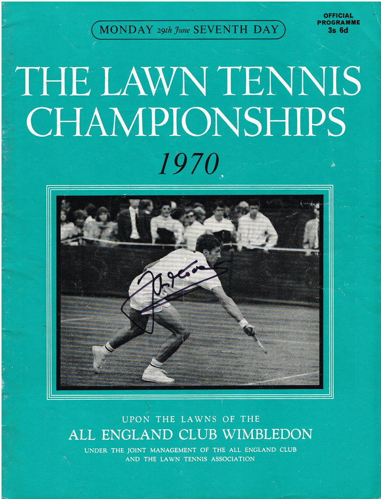 1970 Wimbledon Programme - Monday June 29th - SIGNED