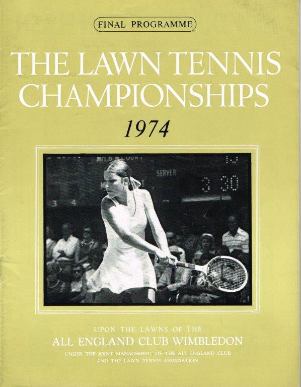 1974 Wimbledon Final Programme with Full Results