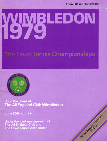 1979 Wimbledon Programme - Friday July 6th