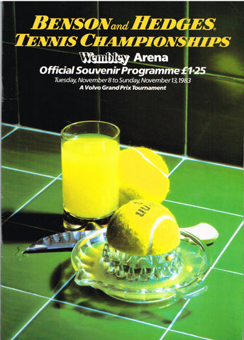 1983 Benson and Hedges Championships Programme