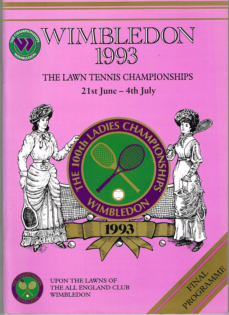 1993 Wimbledon Final Programme with Full Results