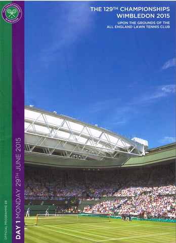 2015 Wimbledon Championships Official Daily Programme