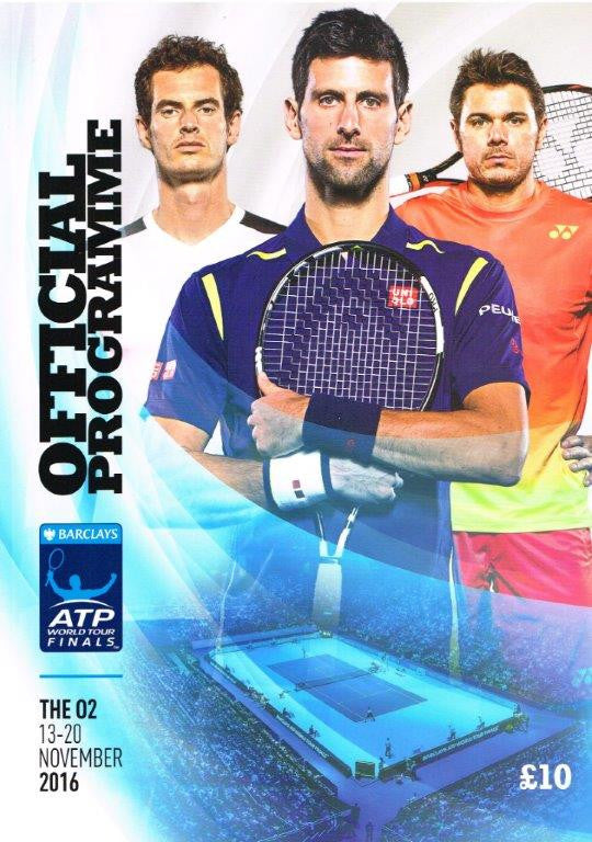 2016 Barclays ATP World Tour Finals Programme