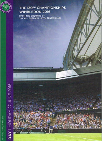 2016 Wimbledon Championships Official Daily Programme