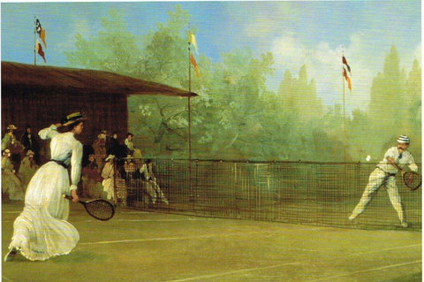 Valentine Card - An Edwardian Tennis Match