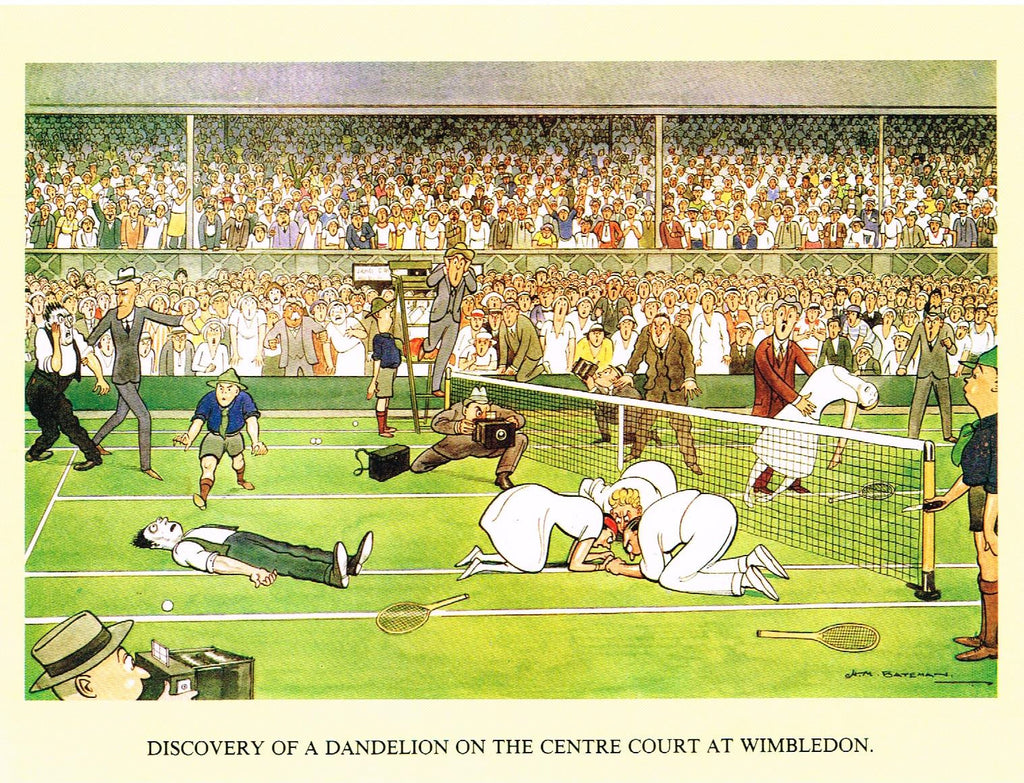 Greeting Card - Discovery of a Dandelion on the Centre Court at Wimbledon
