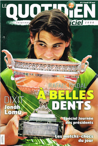2006 French Open Programme - Lundi 29 Mai