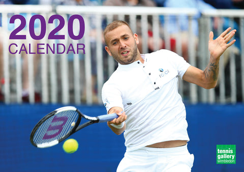 2020 Tennis Calendar JUST ARRIVED