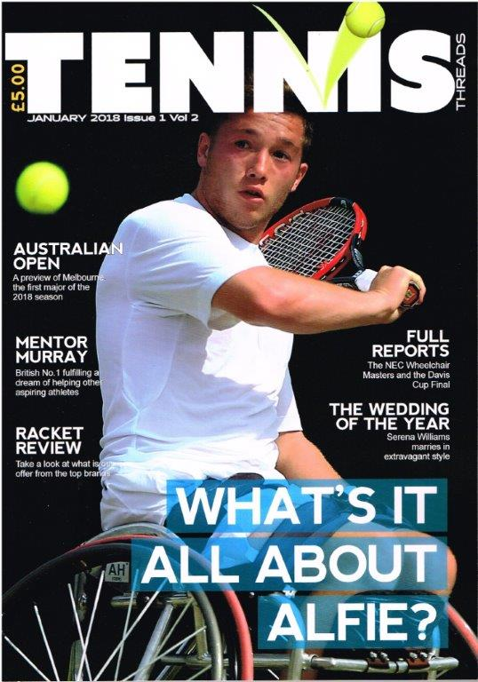 TENNIS THREADS MAGAZINE January 2018 Issue