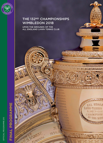 2018 Wimbledon Championships Final Programme with Full Results