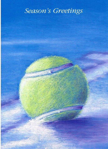 Christmas Card - Tennis Ball in Snow (Order Ref CC04)