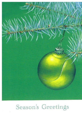 Christmas Card - Tennis Ball Bauble (Order Ref CC03)