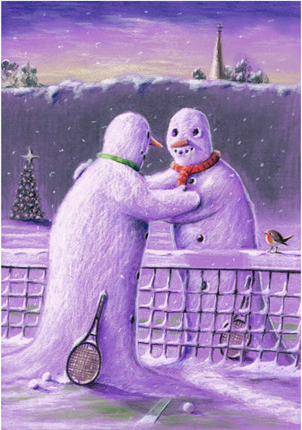 Christmas Card - Two Snowmen (Order Ref CC10)
