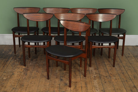 ON SALE // Set of Eight Rosewood Dining Chairs