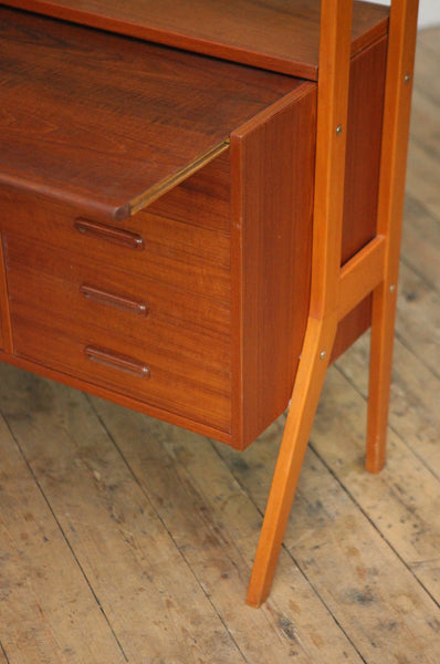 On hold - Danish Teak Bookcase And Storage Unit - Forest London