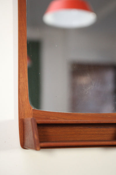 Teak Mirror with Shelf