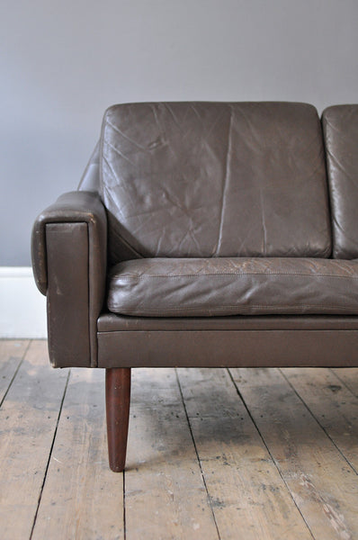 3 Seater Leather Sofa - Forest London