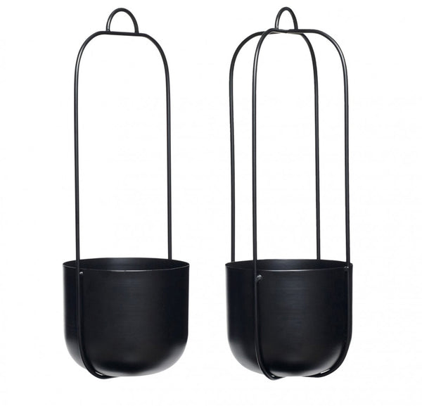 More coming soon...Set of two Hanging Planters in Black by Hübsch - Forest London