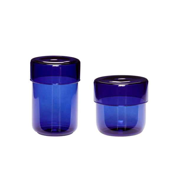 ON SALE // Navy Storage Jars by Hübsch - Forest London