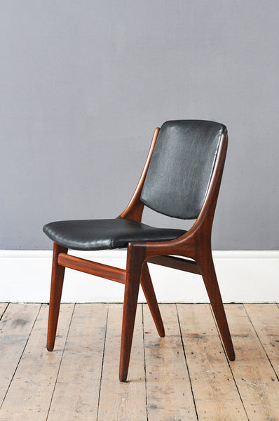 Set of 8 Dutch 1960's Dining Chairs - Forest London