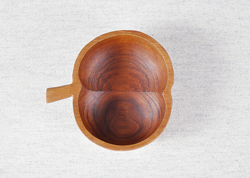 Apple Shaped Wooden Bowl
