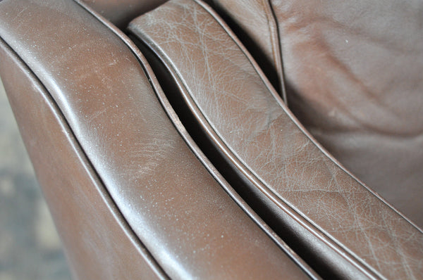 Two Seater Leather Sofa - Forest London