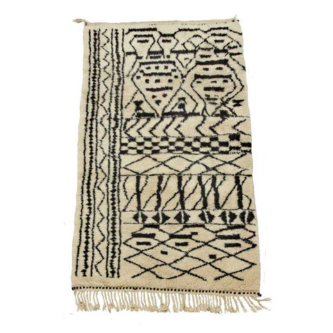Graphic Berber Rug - Forest London