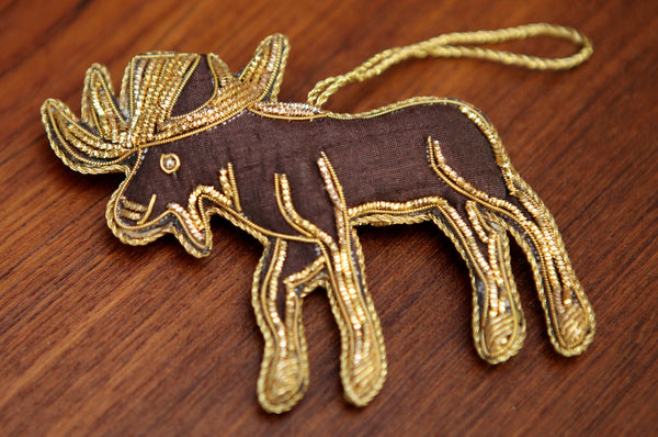 Handmade Moose Ornament