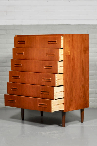 1960s Danish Teak Chest of Drawers