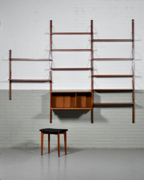 Danish Royal Wall System shelving unit by Poul Cadovius