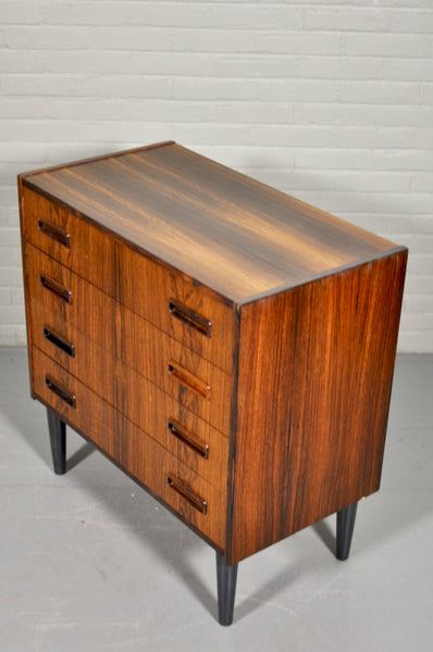 1960s Danish Rosewood Chest Of Drawers