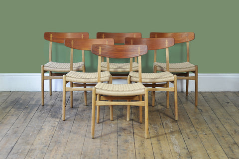Set of Six CH23 Dining Chairs by Hans Wegner