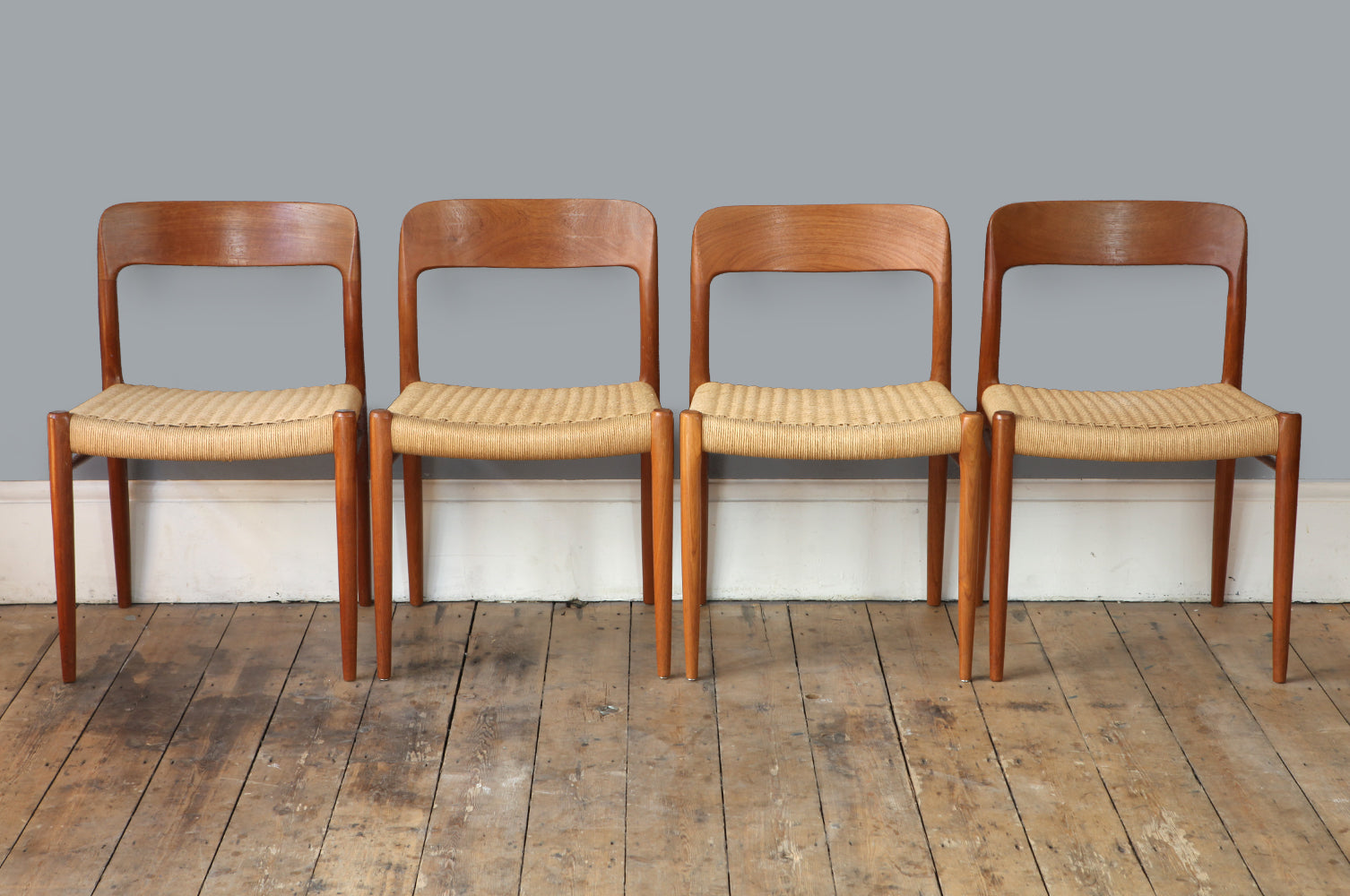 Ultramoderne Set of Four Niels O. Møller Model 75 Chairs – Forest London MY-22