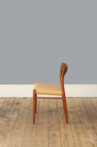 Set of Four Niels O. Møller Model 75 Chairs - Forest London