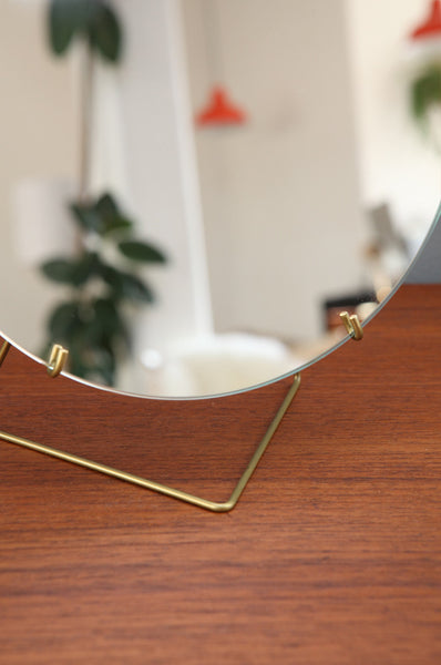 Contemporary Small Brass Mirror by Moebe - Forest London