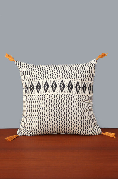 Navy & Cream Square Shaped Cushion