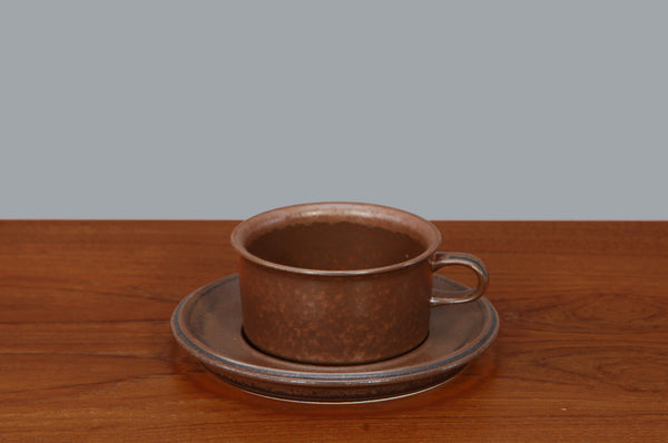 Mid-Century Cup and Saucer by Arabia Finland