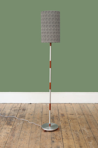 Danish Chrome and Teak Floor Lamp