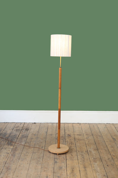 Mid Century Oak Floor Lamp