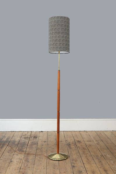 Danish Pinched Teak Floor Lamp - Forest London